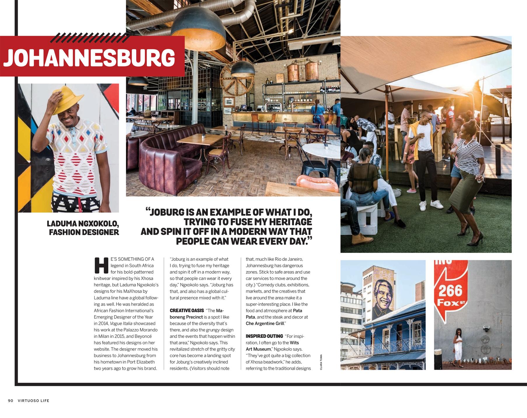 Johannesburg for Virtuoso Life