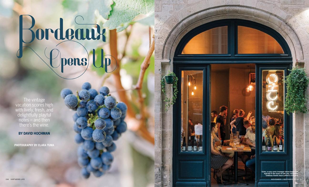 Bordeaux Travel Feature for Virtuoso Life magazine