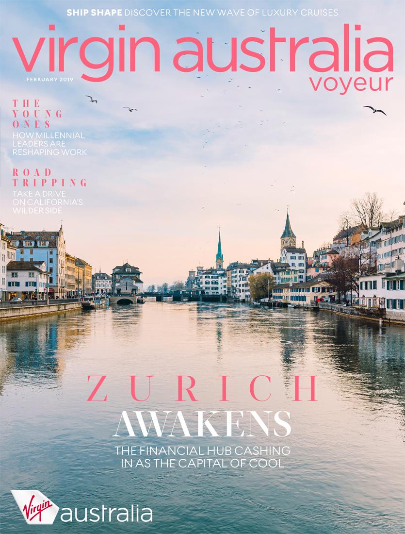 Cover & feature for Virgin Australia's Voyeur in-flight magazine