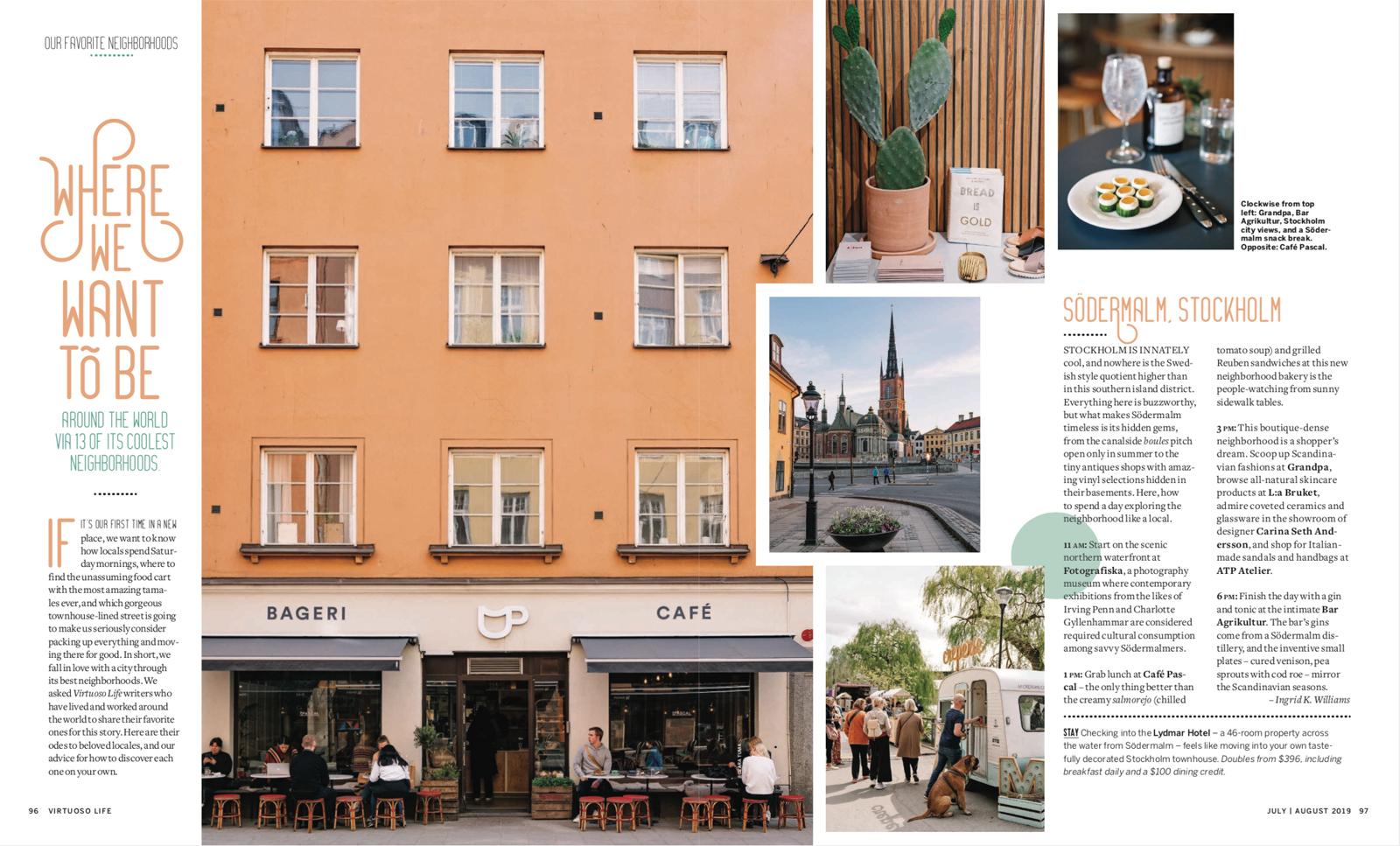 Stockholm neighborhood feature for Virtuoso Life magazine