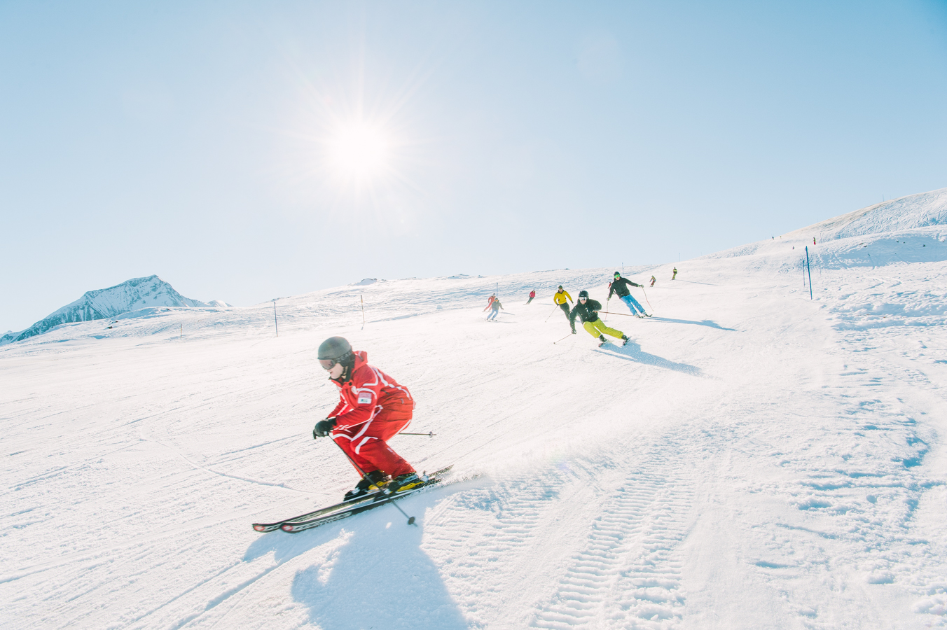 Gstaad, Switzerland.  Hornberg ski area that can be reached via