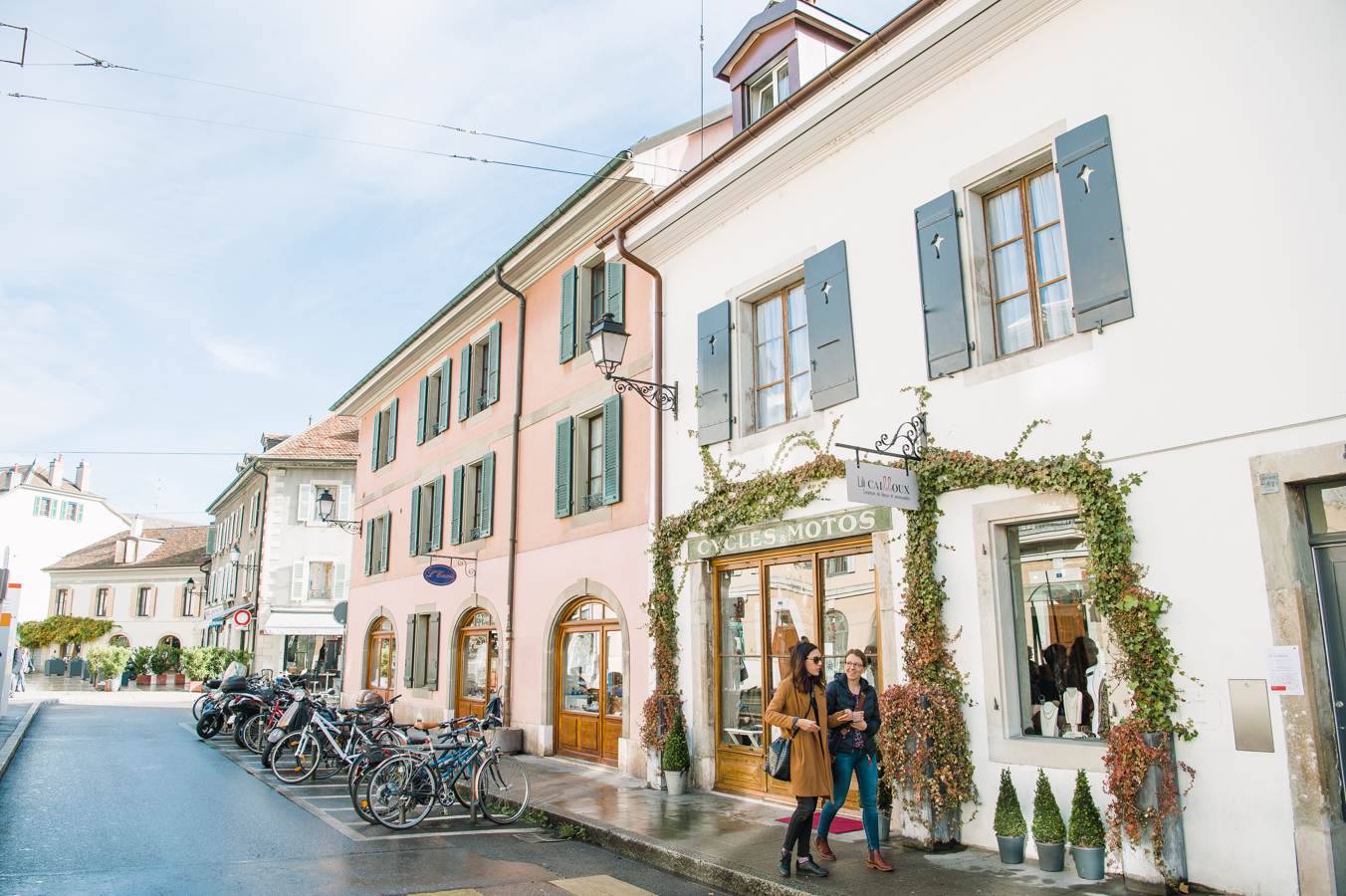 Carouge area in Geneva.
