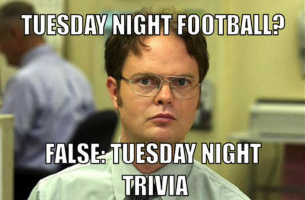 nodding donkey trivia tuesday