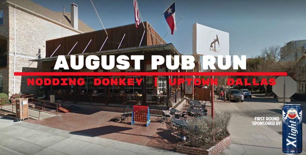 August Pub Run Dallas Texas The Nodding Donkey