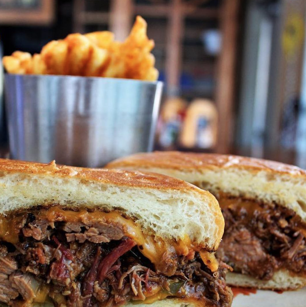 brisket grilled cheese the nodding donkey dallas texas