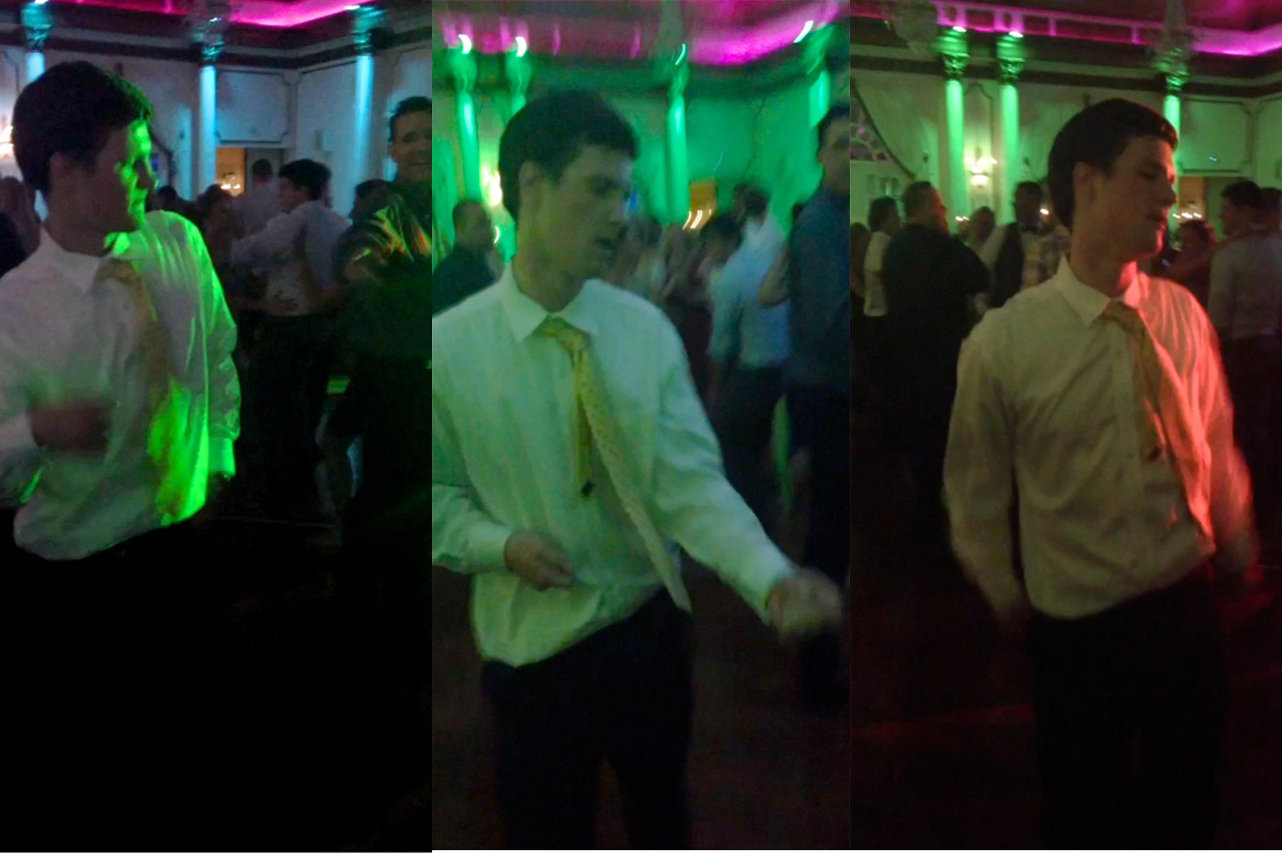 Drew dancing at Brian & Erin Miceli's wedding, July, 2013.