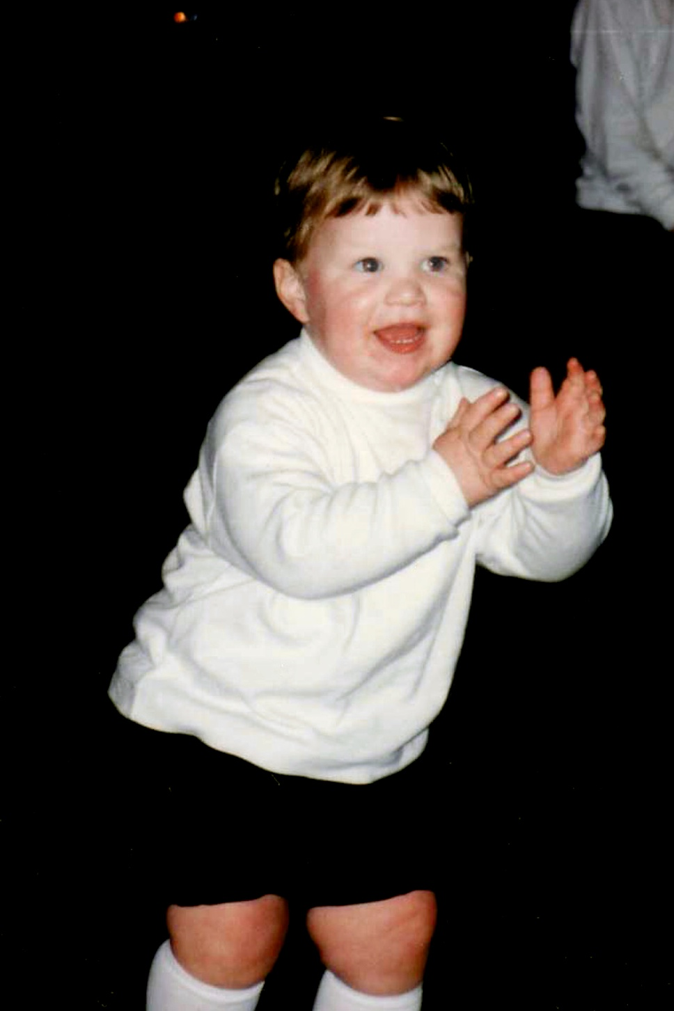 Drew dancing at (almost) 2 years old, in 1993.