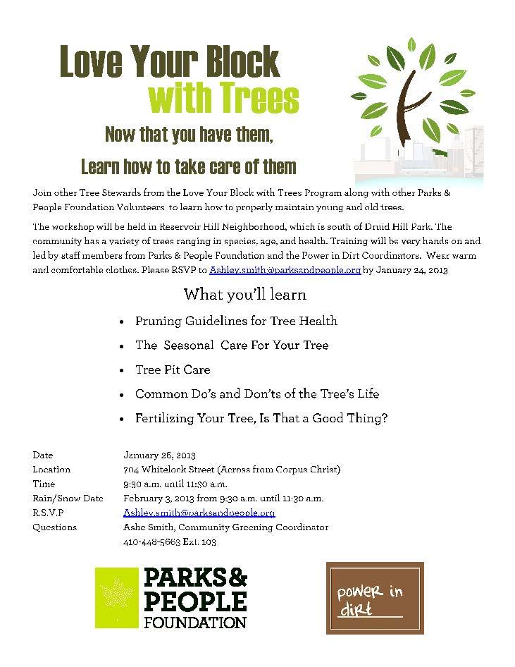 Love Your Block Pruning Workshop