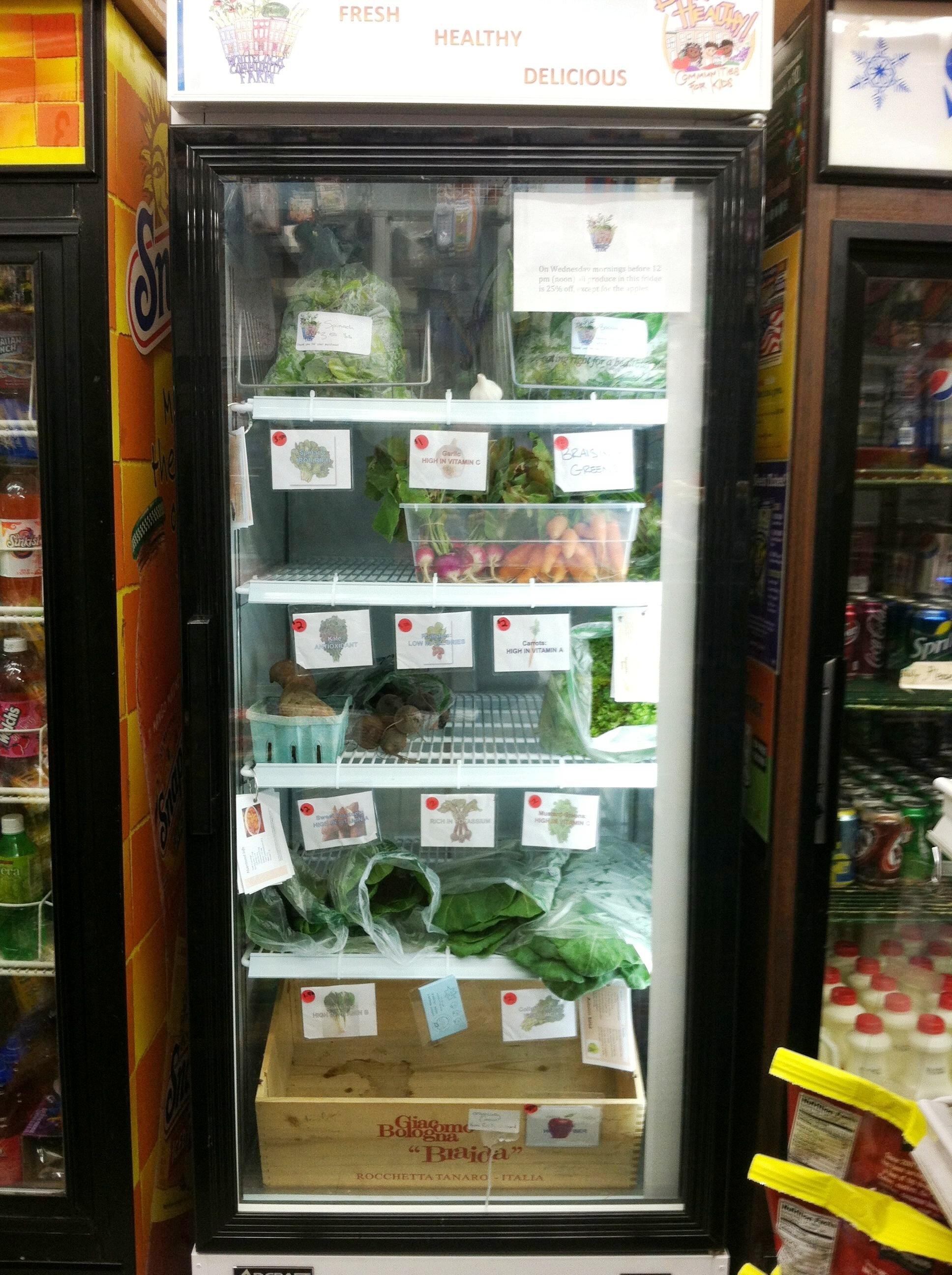 Whitelock Community Farm fridge