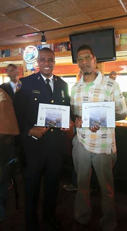 Officer Robert Horne and Ray Kelly