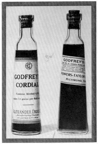 Godfrey's Cordial , early 20th century bottles manufactured in the U.S.A