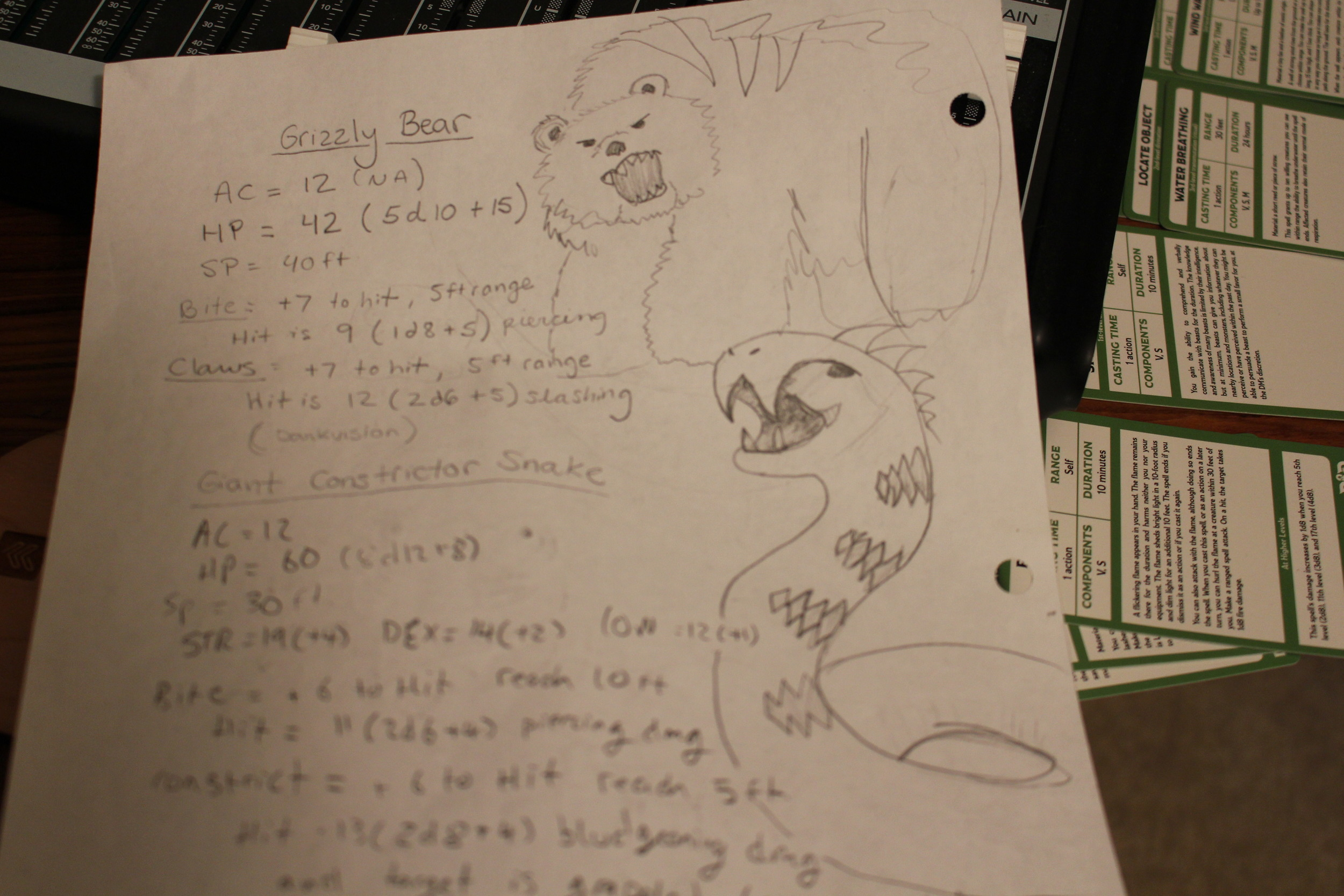 Copy of Izzy's updated Wild Shape notes