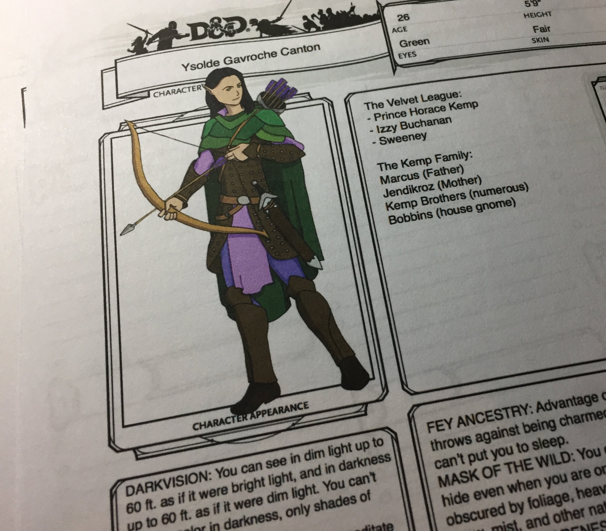 Copy of Ysolde's character sheet