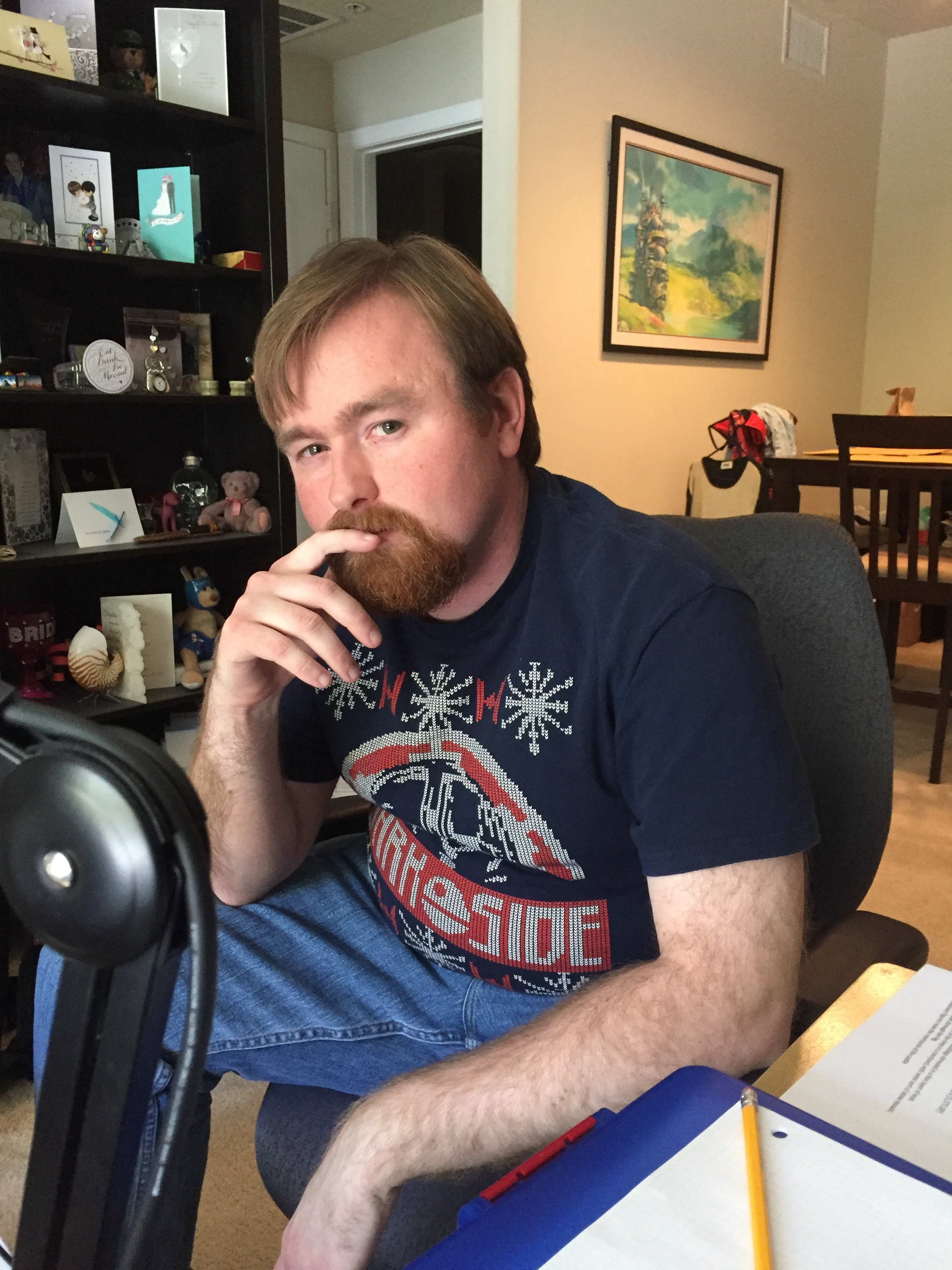 """Mike prepares to DM our """"How the End Begins"""" adventure..."""