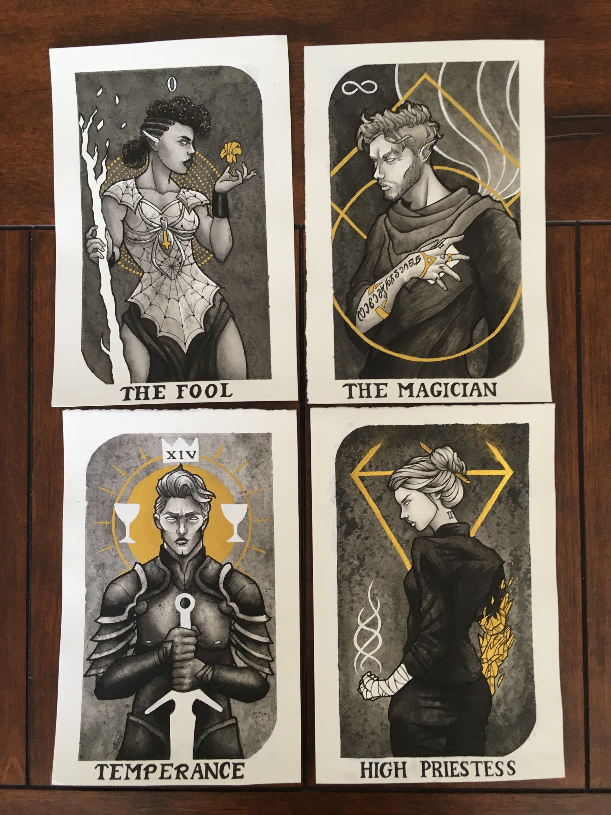 The Velvet League Tarot Cards, by Chloe Fisher