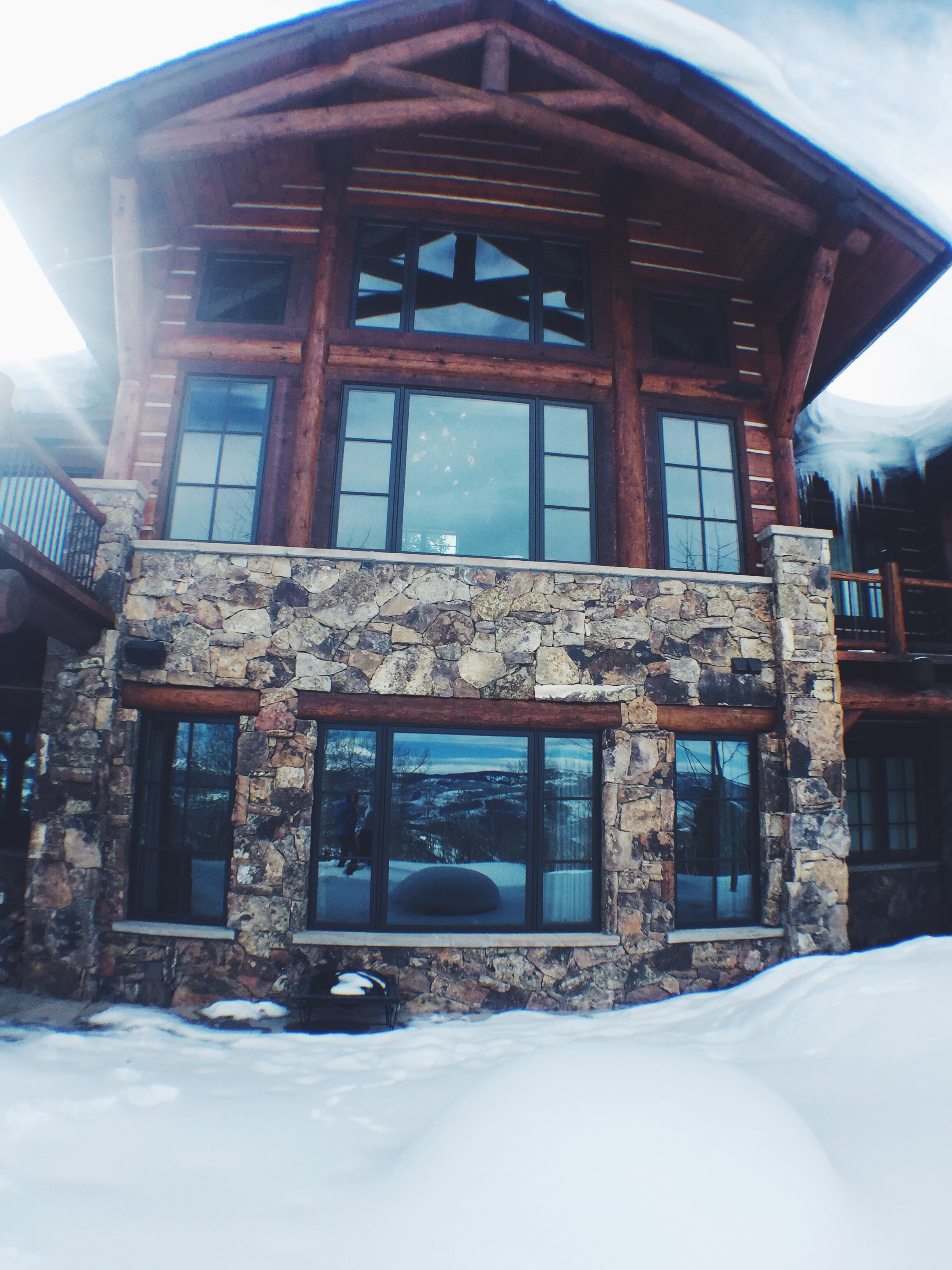 Front of House Facing Mountains