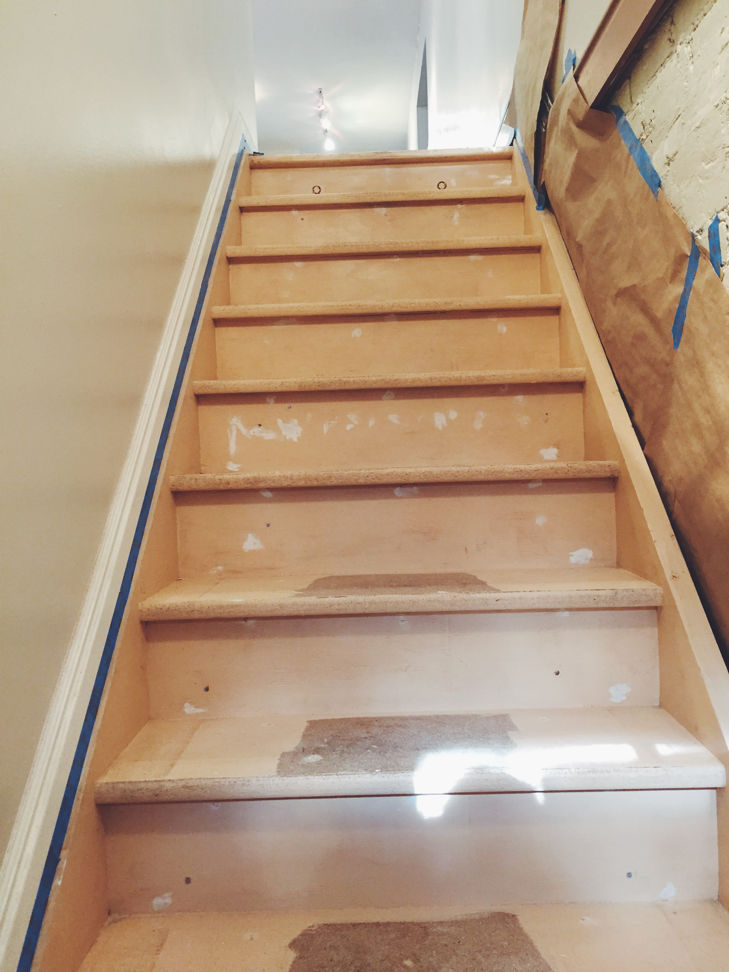 Stairs with wood filler