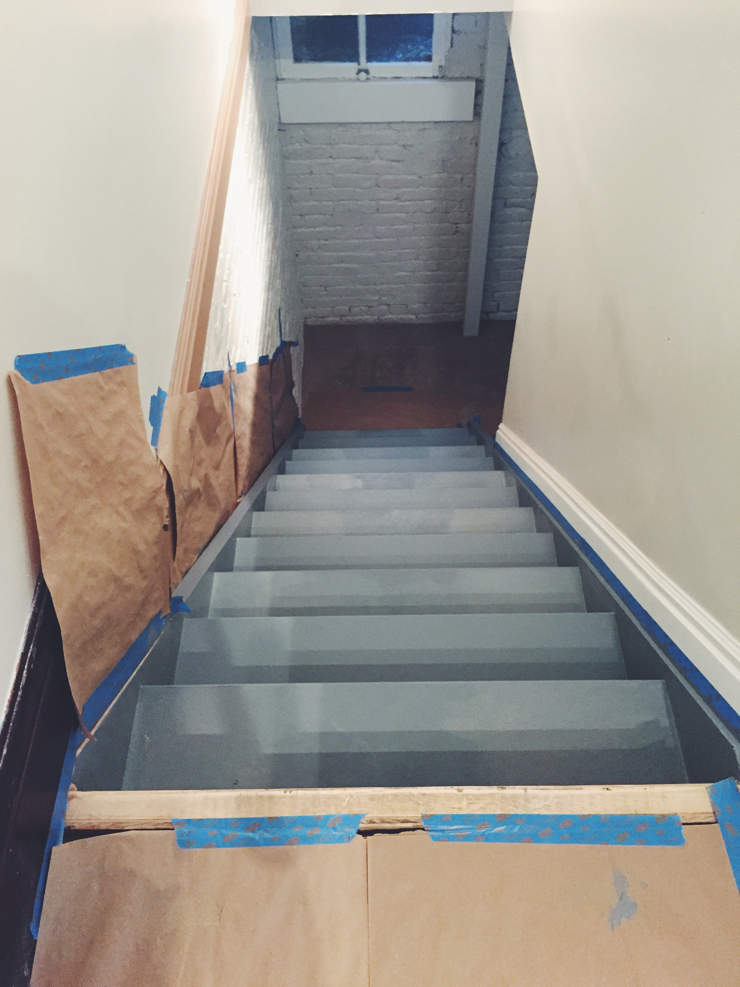 This picture was taken after one coat of paint. I recommend at least two coats!