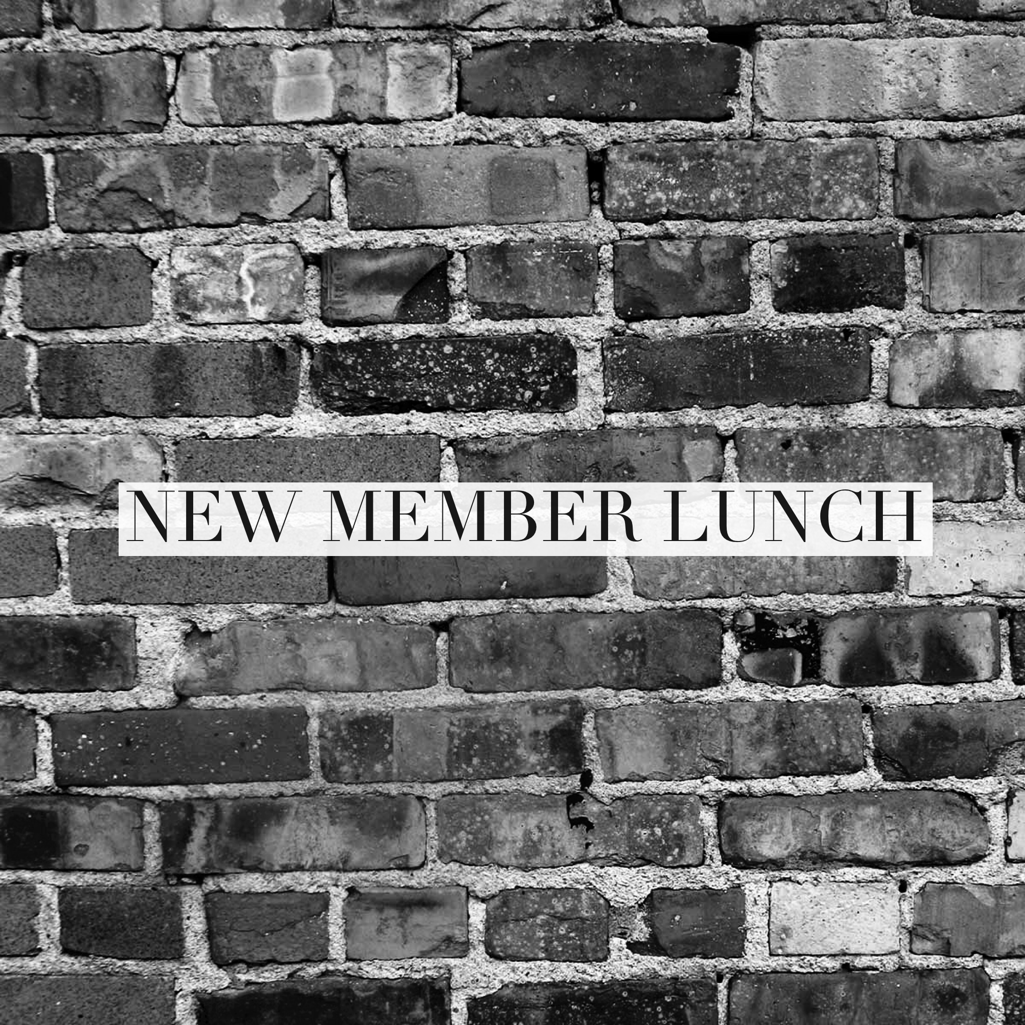 New Member Lunch