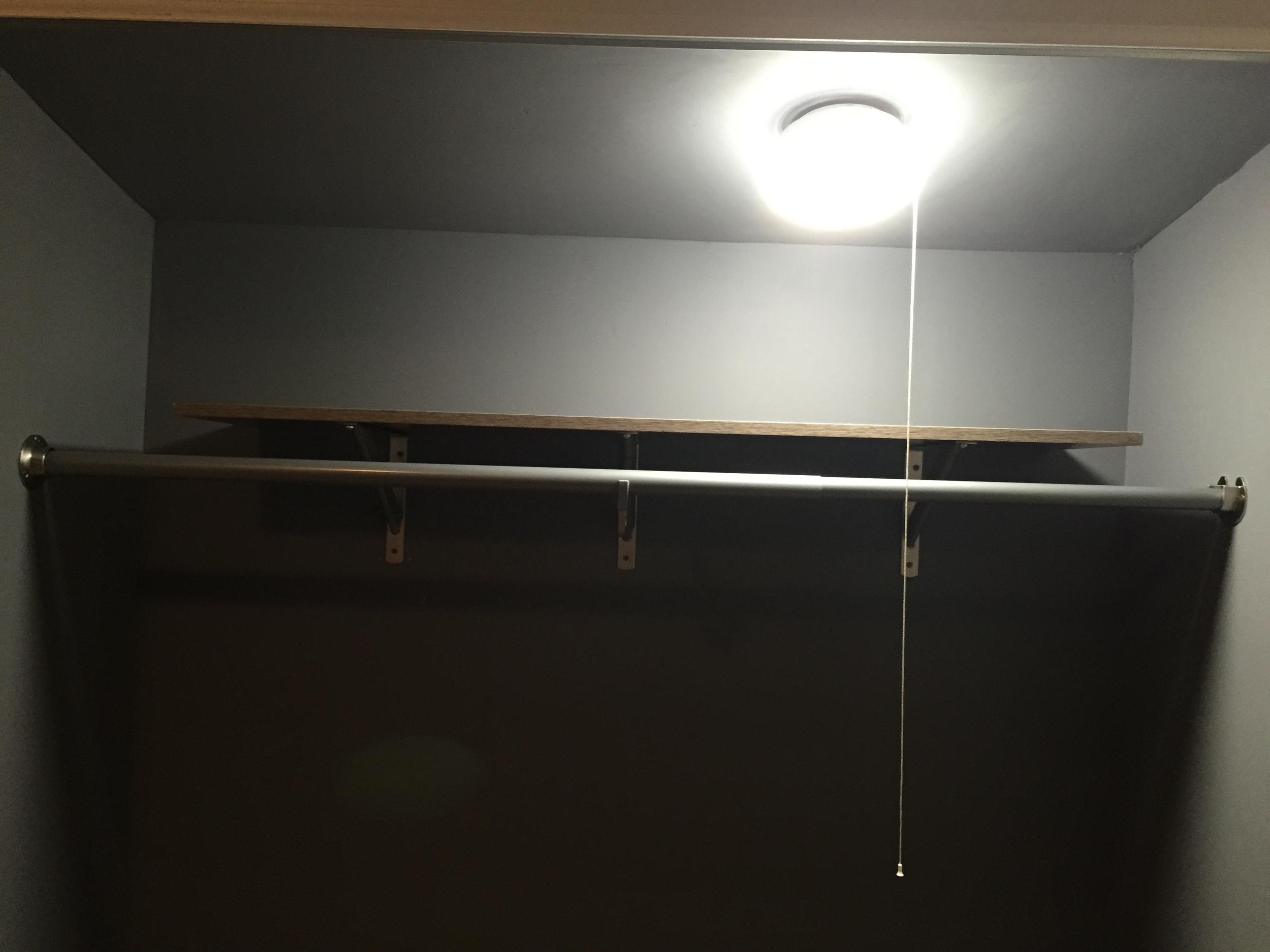 Finished closet {without sliding door}!