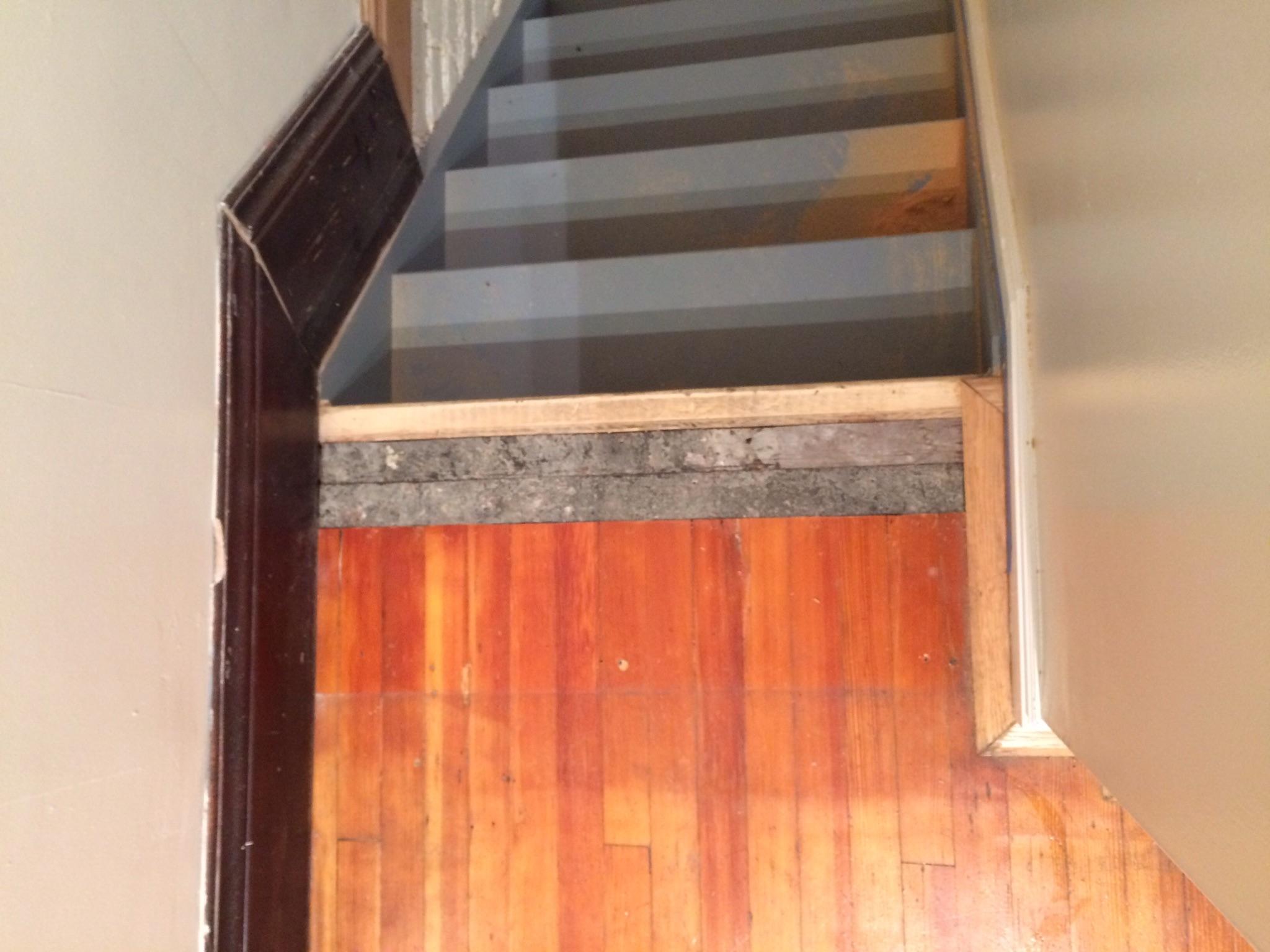 Stair Threshold: In progress