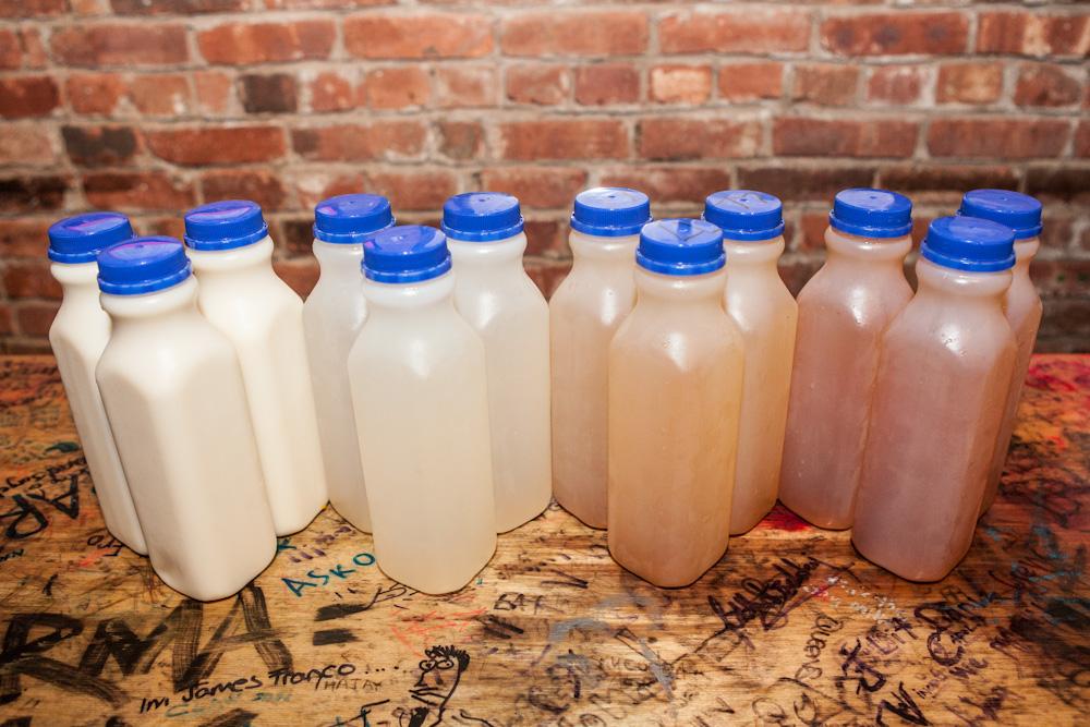 AiYu Jelly Lemonade -  $3.95/ea   Cold Green Tea -  $3.55/ea   Lang Lang (1/2 Lemonade 1/2 Green Tea) -  $3.55/ea   Apple Sidra (Apple Soda) -  $3.00/ea   Hey Song Sarsparilla (Taiwanese Root Beer) -  $3.00/ea   Bottled Water -  $2.00/ea
