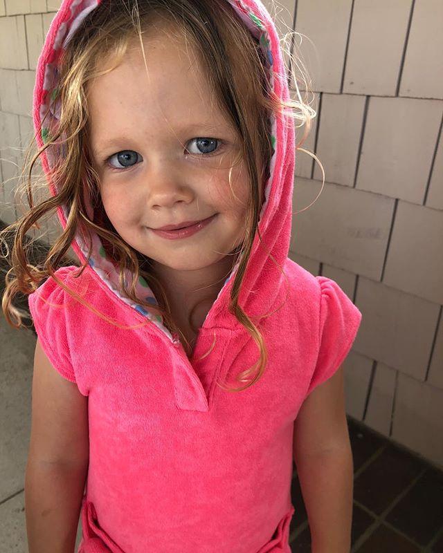 pretty in pink💕#hulastarswim terry dress for all your summer adventures. . . . . . . #hulastar #girlsswimwear #pooldays #beachdays #summertime #kidsfashion #nordstrom