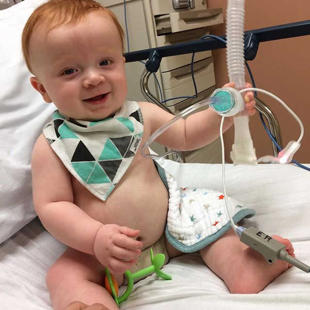 No half measures for Max! First time ever sick and we end up at the ER then admitted overnight. #croup #hesatrooper