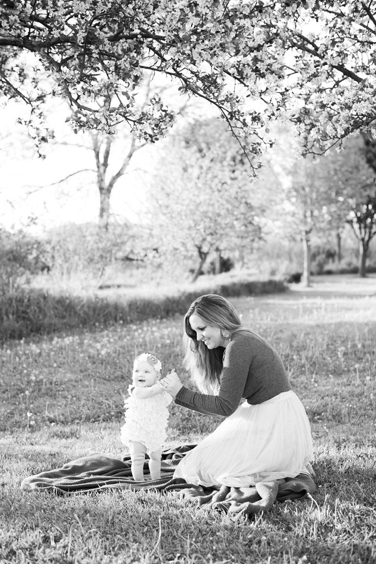 Sheboygan Wisconsin Family Photographer, Apple Blossom Photos, 6 month old baby photo ideas