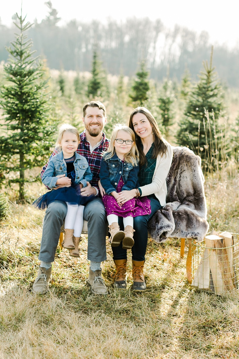 Winter Family Photos in Wisconsin