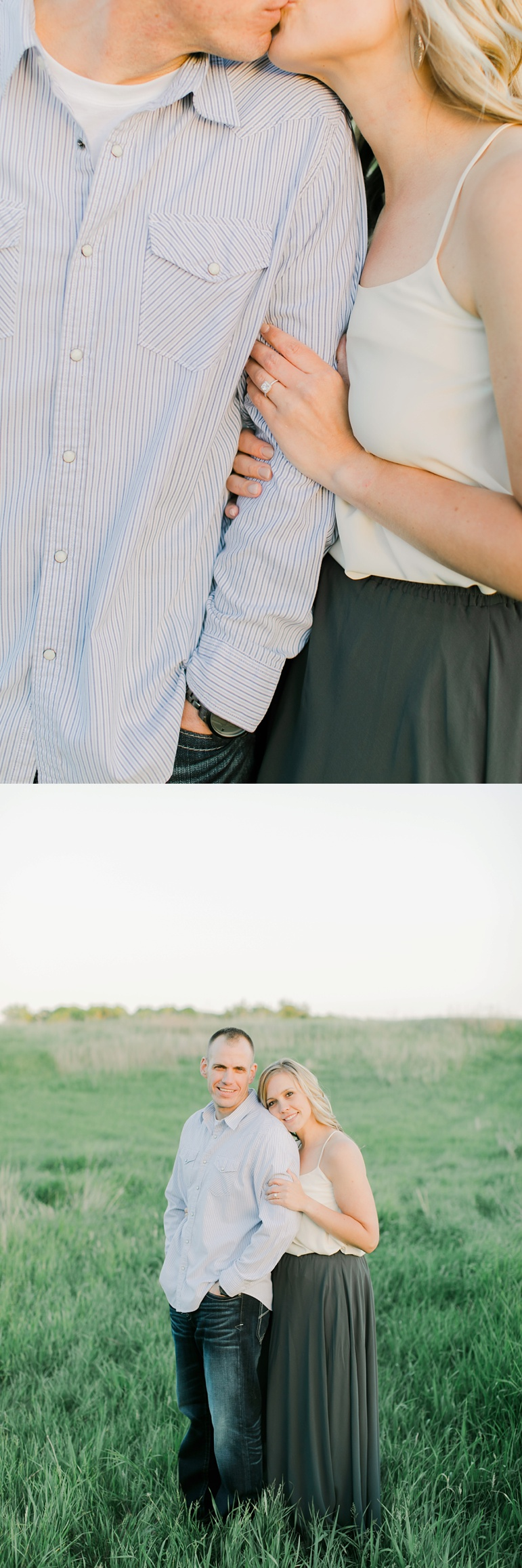 Manitowoc Wisconsin Sunset Engagement Photos