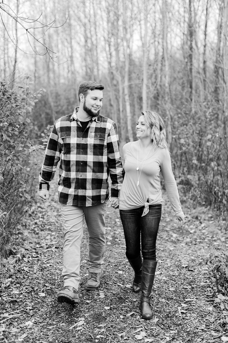 Fall Engagement Photos Milwaukee