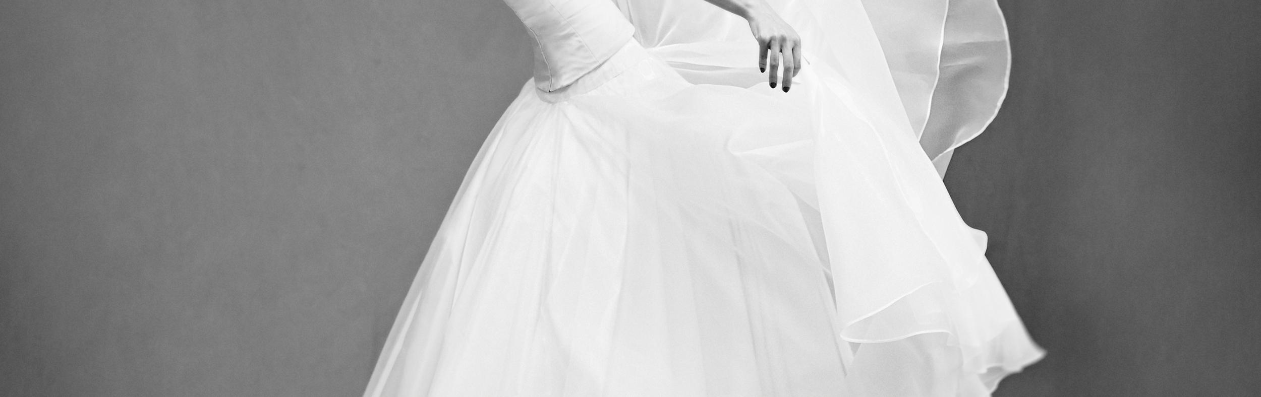 bridal skirt in organza
