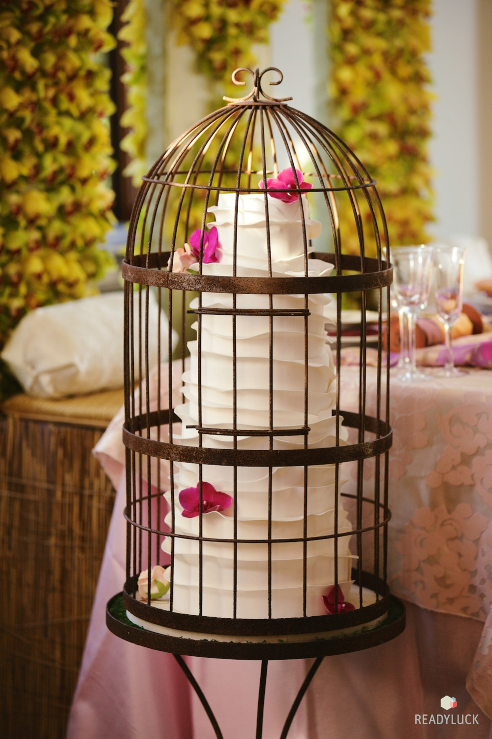 Wedding Cake in a Birdcage