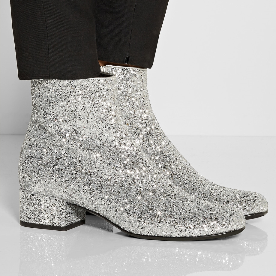 Yves Saint Laurent metallic boot