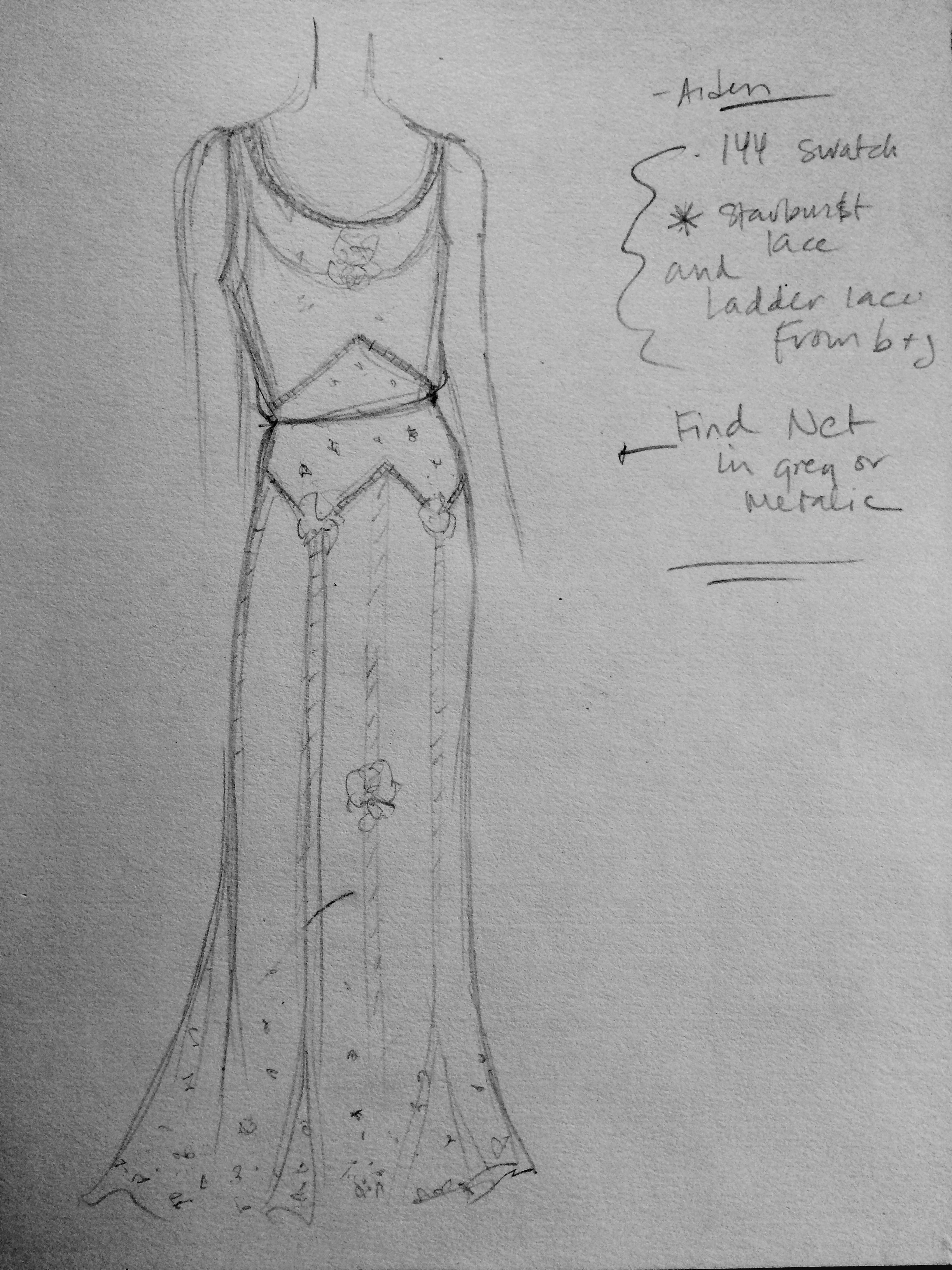 weddingdresssketch