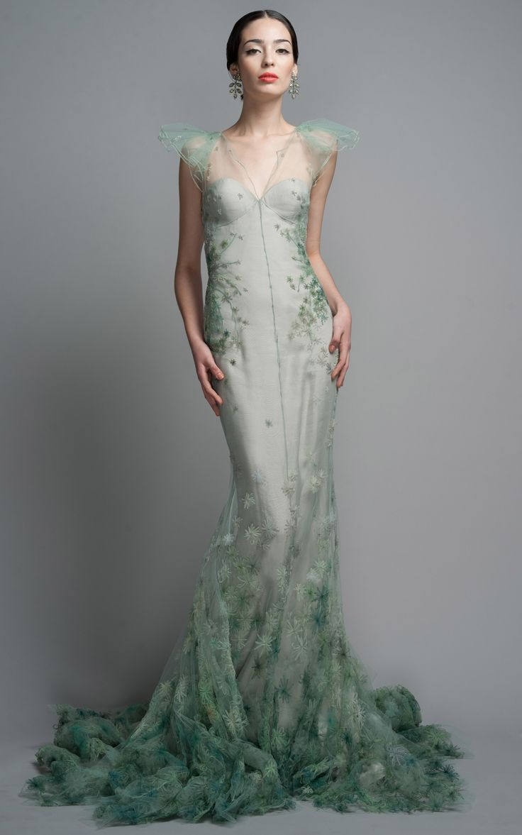 Art Deco Wedding Dress Mood Board | Zac Posen Gown