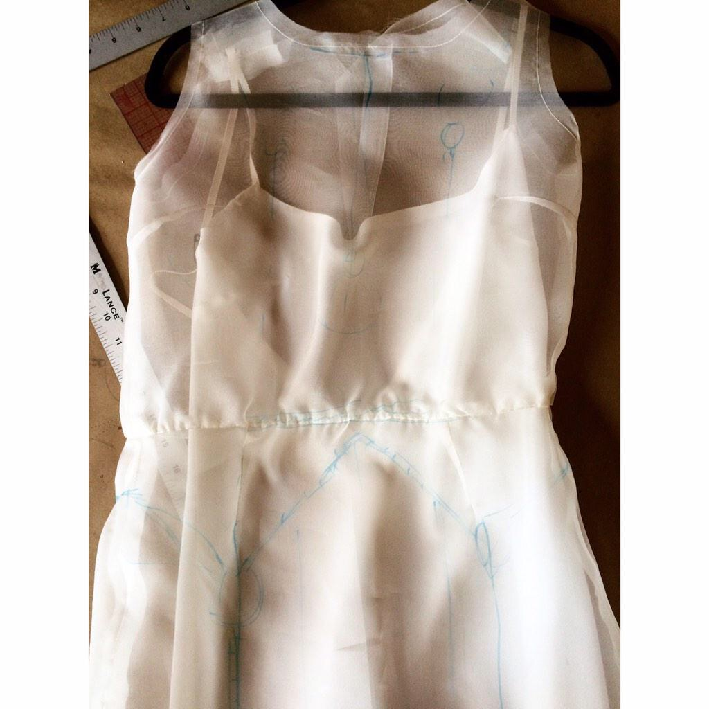 Art Deco Wedding Dress | Organza Toile