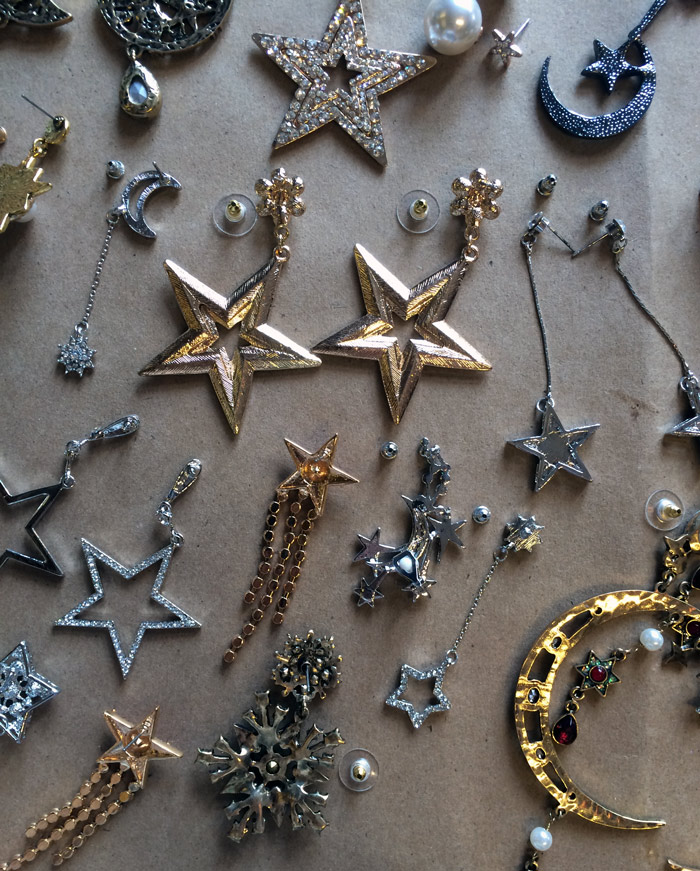 All this costume jewelry had us seeing stars.
