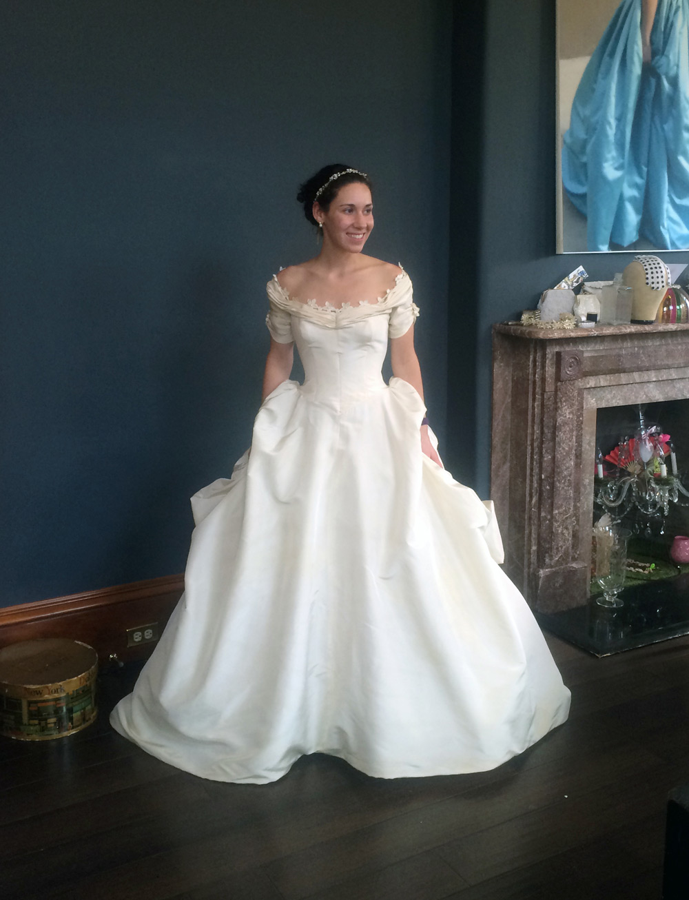 The lovely Caroline, in a dress fit for a princess.