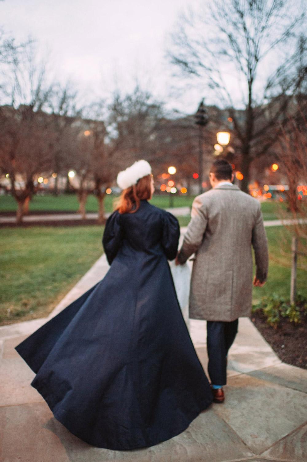 Custom Satin Bridal Overcoat –Ciara