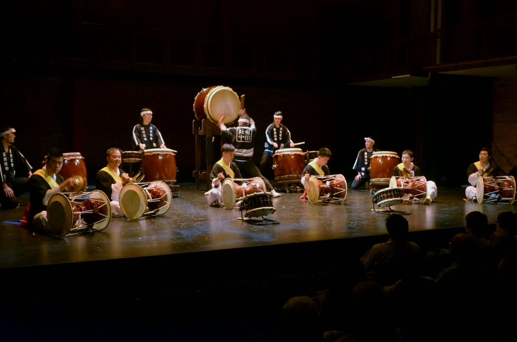 with Nagata Shachu |  Japanese taiko drumming and music group