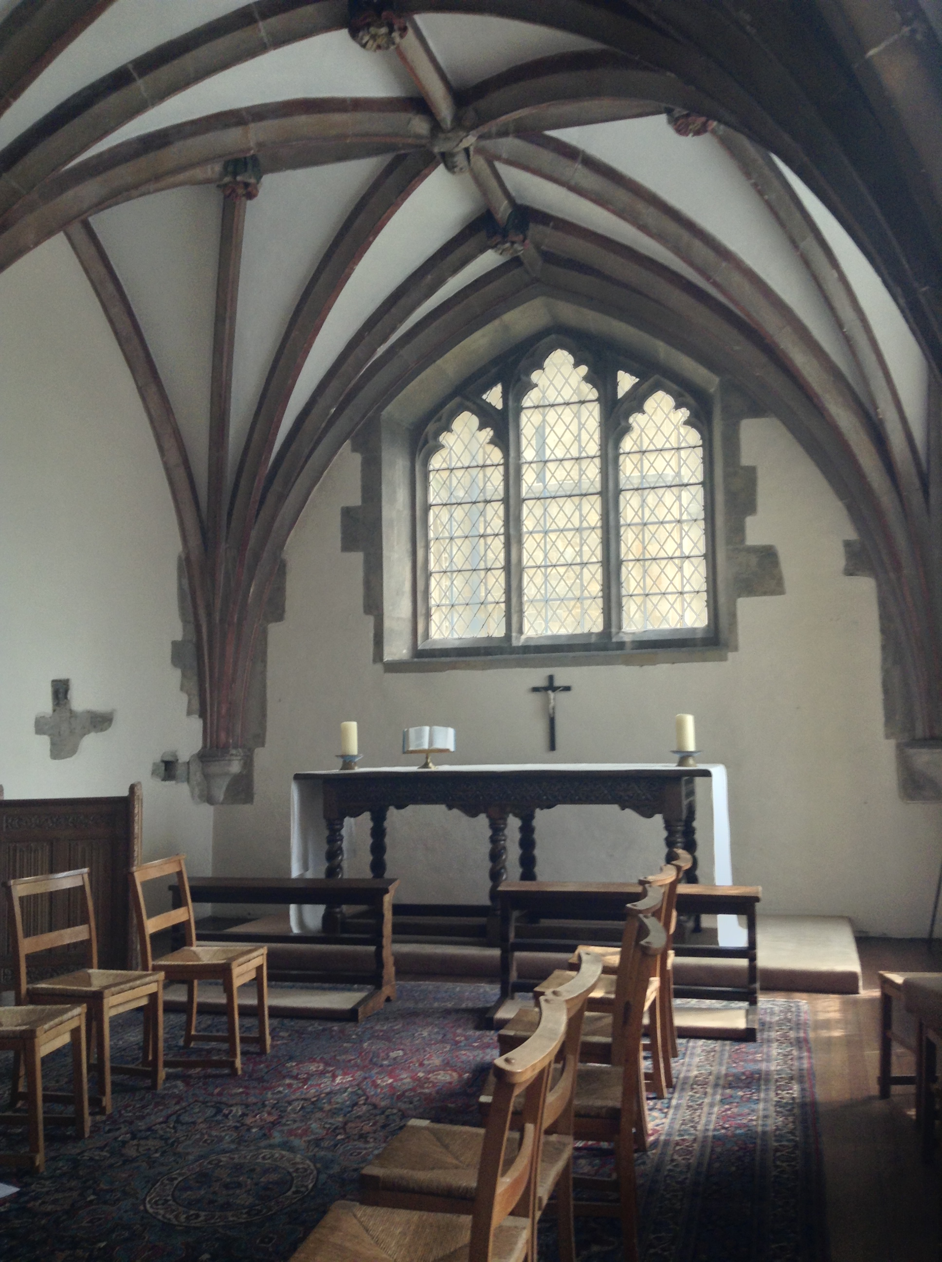 All Saints Chapel, My composing space for the Canterbury Cathedral tour.