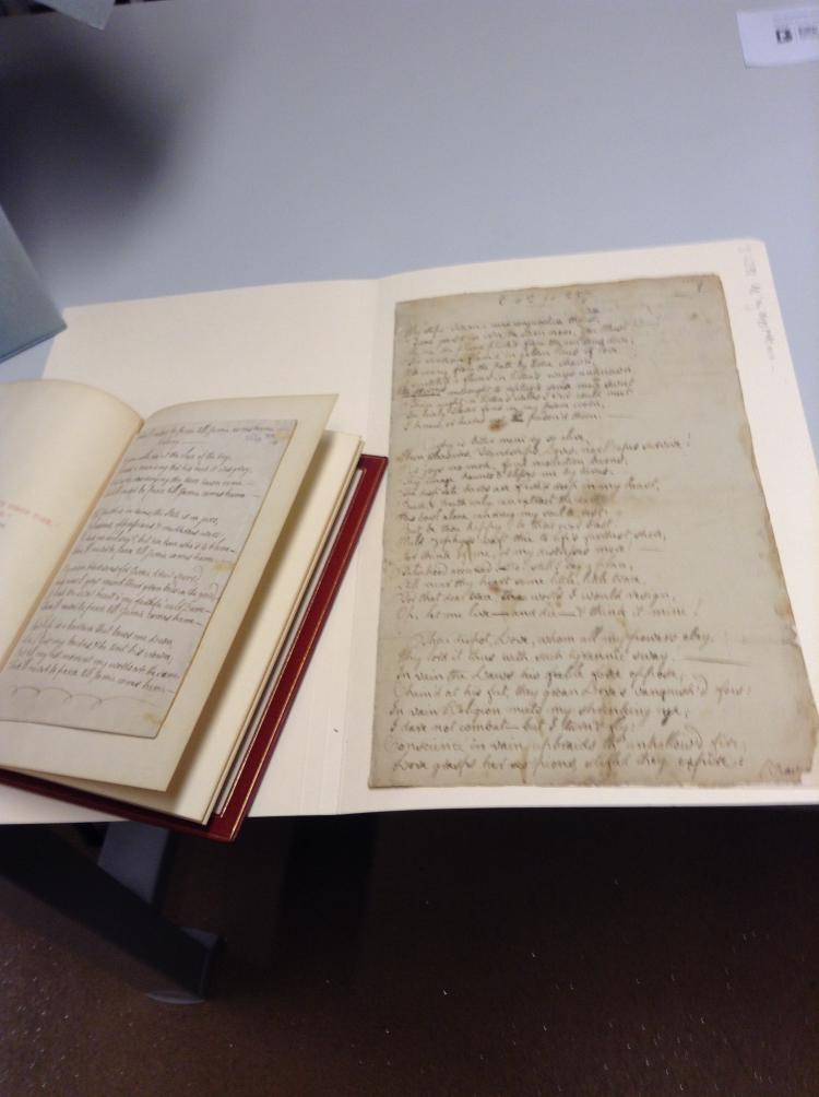 Robert Burns original hand-written manuscript, seen as part of the Culzean Castle trip.