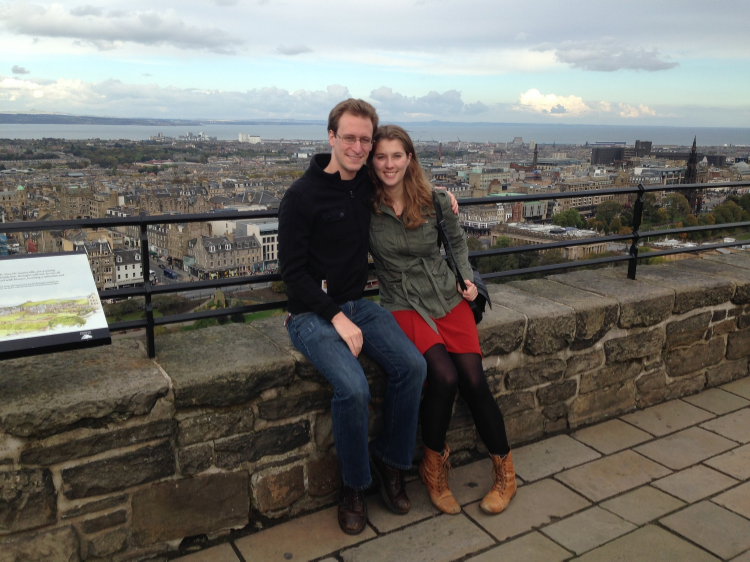 Sarah and I at the top of Edinburgh Castle