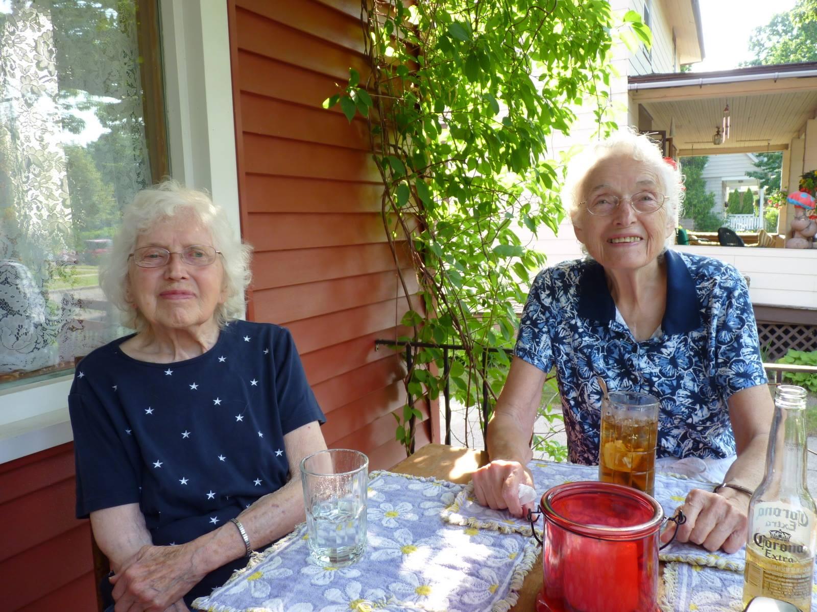 Grandma Florence and Grandma Esther
