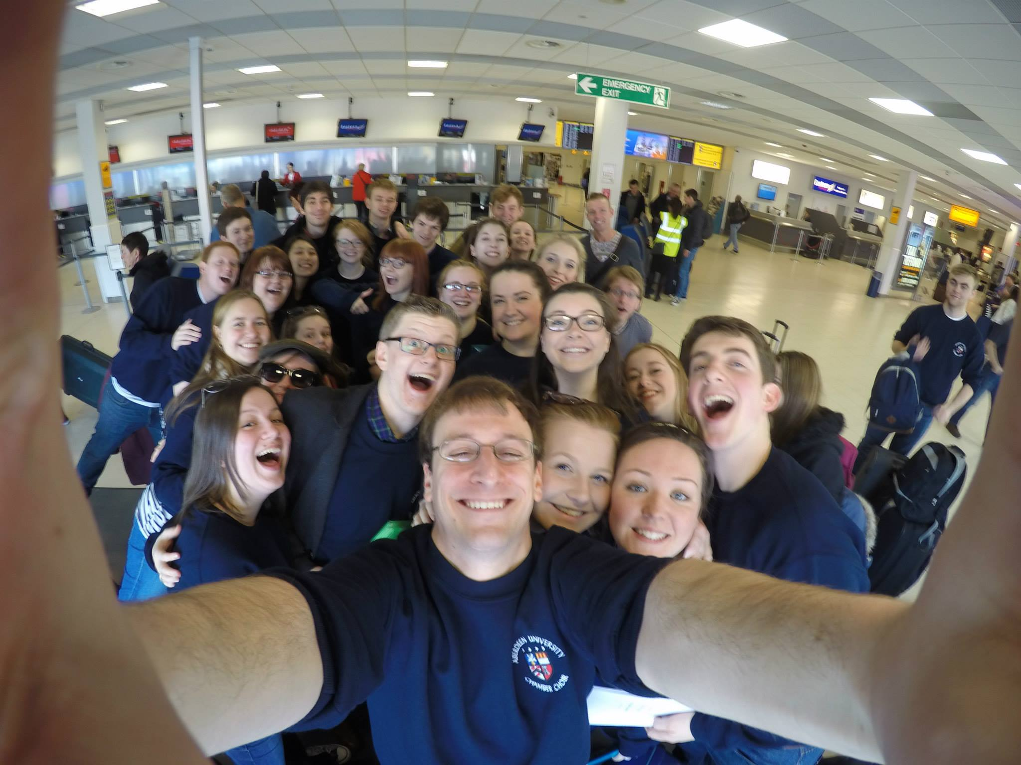 Chamber Choir, departing aberdeen
