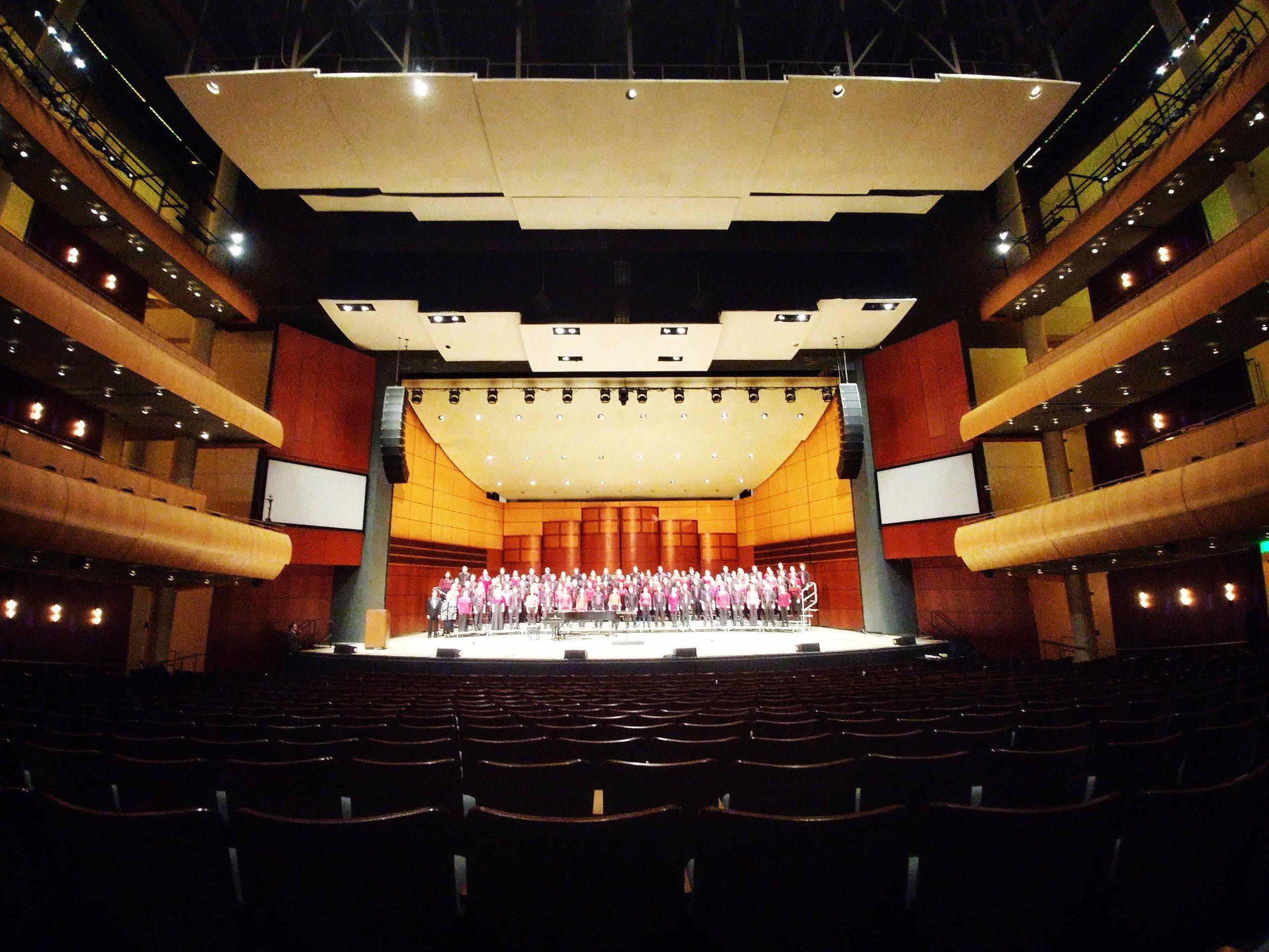 MSVMA Honors Choir in rehearsal.