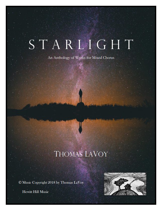The cover for  Starlight: An Anthology of Works for Mixed Chorus.