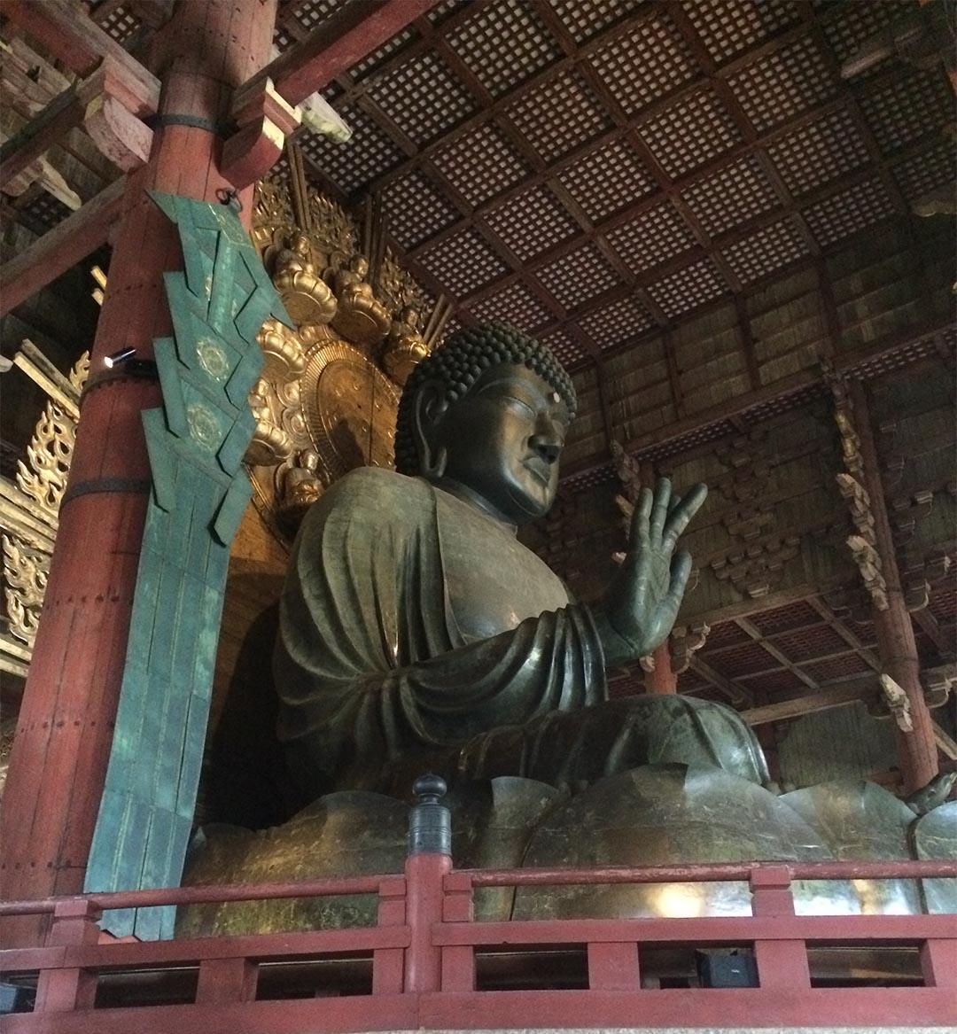 photo of Dainichi-Buddha taken at Todaiji in Nara